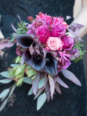 bouquet-de-mariée-couleur-pink-et-noir